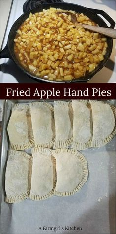 Make Fried Apple Hand Pies ahead of time and freeze. Cook when you are craving a warm, homemade pie. Make Fried Apple Hand Pies ahead of time and freeze. Cook when you are craving a warm, homemade pie. Apple Hand Pies, Fried Apple Pies, Fried Pies, Pecan Pies, Fall Dessert Recipes, Köstliche Desserts, Delicious Desserts, Autumn Pie Recipes, Autumn Desserts