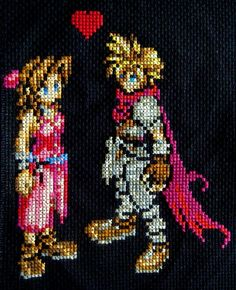 Final Fantasy VII Cross Stitch by pixel8bit