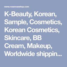 K-Beauty, Korean, Sample, Cosmetics, Korean Cosmetics, Skincare, BB Cream, Makeup, Worldwide shipping, Sample Cosmetics, Iope, Etude House, Innisfree, Tonymoly, Missha, Skinfood, The Face Shop, Mizon, Clio, etc.