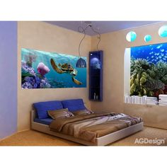 WallandMore Disney Finding Nemo Wall Decal Mural For Boys Room W by H - Bedroom Decor - Kids Wall Decals - Finding Nemo Kids Wall Mural - Disney Decals - Children Murals -- Be sure to check out this awesome product. Disney Wall Murals, Disney Decals, Kids Wall Murals, Bbg, Winnie The Pooh, Disney Rooms, Cartoon Wall, Removable Wall Decals, Childrens Room Decor