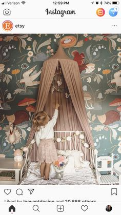 Girl room decorate idea vintage, vintage girl room, girl room wallpaper animals, animal wallpaper forest animals The post Girl room furnishing idea vintage, vintage girl … appeared first on Woman Casual - Kids and parenting Cool Kids Bedrooms, Kids Bedroom Designs, Kid Bedrooms, Girl Rooms, Kids Bedroom Girls, Kids Bedroom Ideas, Little Girl Bedrooms, Baby Girls, Boho Nursery