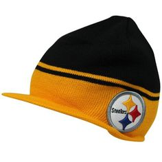 e4ea82506 NFL '47 Brand Pittsburgh Steelers Powerback Visor Knit Hat - Black/Gold  Twins,