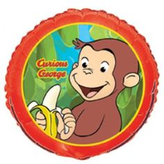 This Curious George Foil Balloon is a great way to add fun and adventure to your birthday party decorations. This foil balloon features a colorful picture of a mischievous Curious George printed on both sides. Combine this Curious George Foil Balloon with Helium Balloons, Foil Balloons, Latex Balloons, Balloon Toys, Balloon Party, Curious George Party, Curious George Birthday, Colourful Balloons, Globes