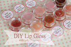 DIY lip gloss and free Printable Labels