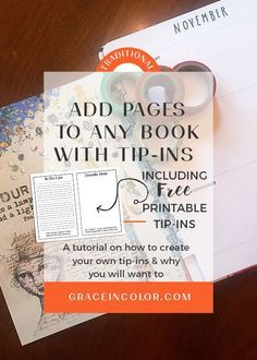 Add pages to any book with tip-ins, plus a freebie