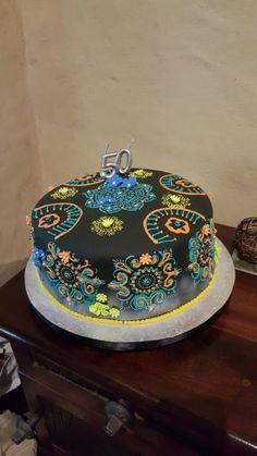 Henna inspired 50th birthday cake