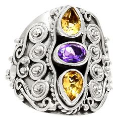 Amethyst 925 Sterling Silver Ring Jewelry s.8 RR21788 | eBay