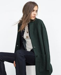 Image 3 of WOOL COAT from Zara