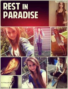 This girl was so beautiful && had the whole world ahead of her! I am absolutely disgusted with our world. I am going to stand up for every single person who ever gets bullied! It will be my life goal to stick up for anyone who gets bullied! If anyone has a problem you can go to hell! Rest In Piece Amanda Todd you are my inspiration to try && make a difference in this world <3