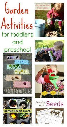 Garden activities for toddlers and preschool
