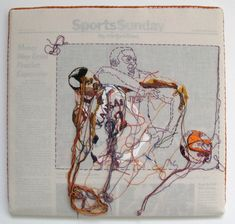 san francisco based artist lauren dicioccio recreates everyday objects and pieces of media using textiles and time consuming embroidery Marcus Morris, Contemporary Embroidery, Sewing Art, Fabric Manipulation, Art Studies, Embroidery Art, Portrait Embroidery, Textile Art, Les Oeuvres