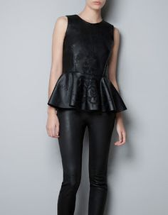 Zara - Black, Leather and Lace