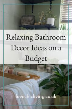 Relaxing bathroom decor ideas for when you want to revamp the bathroom but you have a budget to stick to! In this post, I've included relaxing bathroom colour schemes, relaxing decor ideas on a budget, calming bathroom decor and other cool ideas to help bring a relaxing vibe to a family bathroom. #lovechicliving Family Bathroom, Small Bathroom, Bathrooms, Bathroom Color Schemes, Colour Schemes, Relaxing Bathroom, Calming, Entryway Tables, Budget