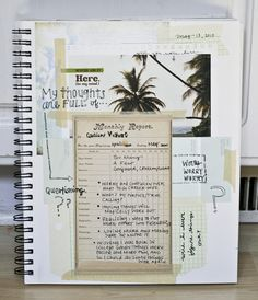 New Art Journal Inspiration Smash Book Link 36 Ideas Smash Book, Wreck This Journal, Art Journal Pages, Art Journaling, Moleskine, Mini Albums, Planners, Bullet Journal, Creative Journal