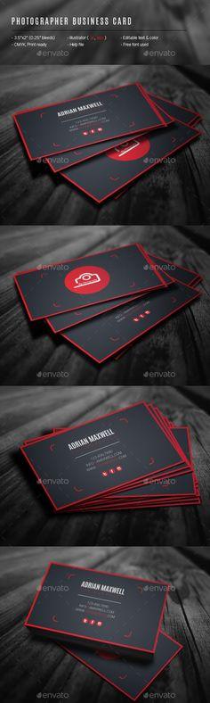 Photographer Business Card Template #design Download: http://graphicriver.net/item/photographer-business-card/12447034?ref=ksioks