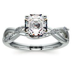 Florida Ivy Diamond Engagement Ring in White Gold   Asscher Cut Center Diamond https://www.brilliance.com/engagement-rings/florida-ivy-diamond-engagement-ring-white-gold