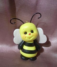 *POLYMER CLAY ~ bee bees bumblebee Christmas ornament handcrafted sculpture figurine gift insect polymer clay