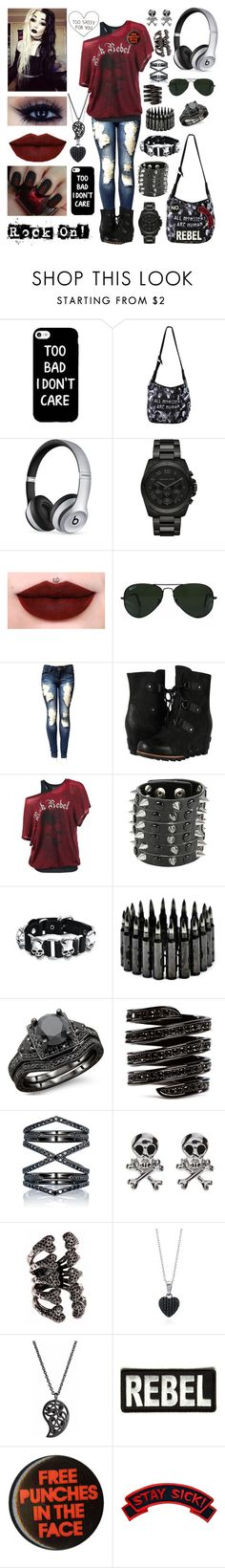 """""""An outfit that makes me feel good tag (RTD)"""" by jeanie-boyd ❤ liked on Polyvore featuring Beats by Dr. Dre, Michael Kors, Jeffree Star, Ray-Ban, SOREL, Bling Jewelry, Lynn Ban, Eva Fehren, BERRICLE and Sonal Bhaskaran"""
