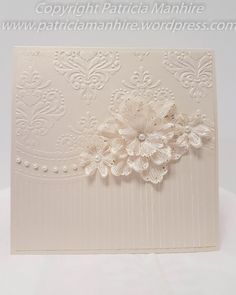 #HeartfeltCreatiions Arianna Blooms with 'that' All Occasions embossing folder.  Tutorial on how to make the flowers.