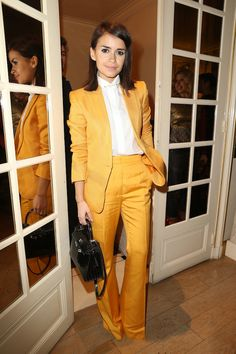 Miroslava Duma - no one does tailored suits better.