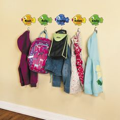 """""""Cutouts are an easy way to jazz up walls or bulletin boards, and they're so affordable, you can do several updates each year. Cutouts are also versatile enough to use for locker or coat hook labels, pattern making or sorting activities. Our 48-pc. exclusively designed cutouts are a great value for tight budgets!"""" - Amy, Education Product Development Specialist for Oriental Trading Company Fish Bulletin Boards, Sorting Activities, Product Development, Inspiration For Kids, Trading Company, Coat Hooks, Oriental Trading, Letters And Numbers, Briefcase"""