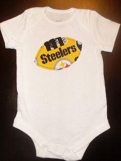 Pittsburgh Steelers Baby Football Onesie by CrumbCrushersShop, $10.00