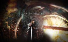 Arte de la fantasía del trono juego de tronos una canción de hielo y fuego tv series Eddard Stark Ned HBO George R fondo de pantalla