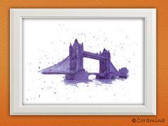 """Kunstdruck """"Towerbridge"""" limitierte Edition von Coramina - Illustration und Design auf DaWanda.com"""