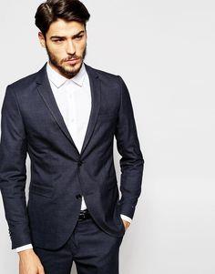 Shop Jack & Jones Premium Tonal Check Suit Jacket in Slim Fit at ASOS.