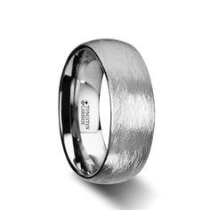 MAXIM Domed Tungsten Carbide Ring W Deep Texture