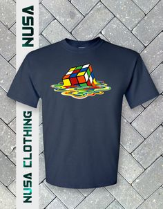 Melting Rubiks Cube T-Shirt The Big Bang Theory  Sheldon Cooper tshirt fast ship #Gildan #BasicTee