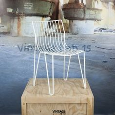 Design chair white wire