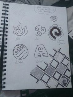Designing a japanese style tattoo using the elements.
