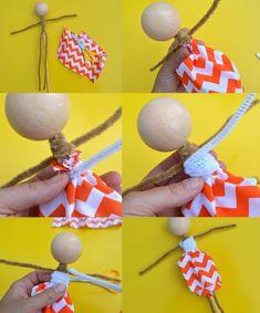 Poupée marionnette facile à fabriquer | Maman Bricolage