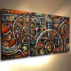 Abstract Art Original Painting Modern Contemporary  Decor Mix Lang cert. unique