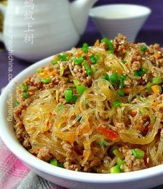 Lao Yang version Sauteed Vermicelli with Spicy Minced Pork