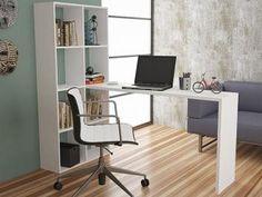 Estante Aberta com Escrivaninha 6 Prateleiras - BRV Móveis BE 38
