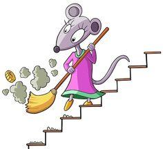 La rateta que escombrava l'escaleta Mouse Illustration, Fairy Tales, Disney Characters, Fictional Characters, It Cast, Clip Art, Animation, Make It Yourself, Artist