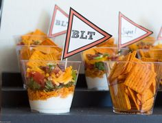 Ranch BLT Layered Mini Dips @FoodBlogs