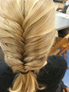 cute fishtail braid - I wonder if my hair is long enough for that yet