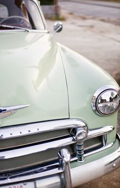 25 New Ideas For Dream Cars Vintage Mint Green Cars Vintage, Retro Cars, Retro Vintage, Vintage Sport, Vintage Green, Antique Cars, Dream Cars, My Dream Car, Sportster 1200