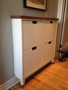 Hello Brick Row: Got wood IKEA Stall shoe cabinet