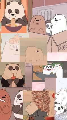 we bare bears Cute Panda Wallpaper, Disney Phone Wallpaper, Cartoon Wallpaper Iphone, Bear Wallpaper, Kawaii Wallpaper, Cute Wallpaper Backgrounds, Galaxy Wallpaper, Iphone Background Disney, We Bare Bears Wallpapers