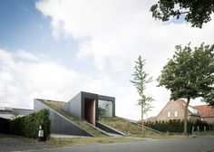 OYO's House Pibo features a sloping green roof and split levels