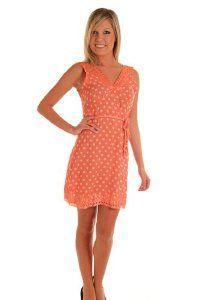 DHStyles Women's Cute Polka Dot Rope Tie Mini Dress