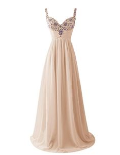 Dresstells Women's Long Straps Chiffon Prom Dress Ruffles Evening Dress Party Dress with Sequins Champagne Size 6 Dresstells http://www.amazon.co.uk/dp/B00U8HN6B0/ref=cm_sw_r_pi_dp_laLgvb009D37G