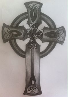 Celtic cross tattoo design Celtic Cross Tattoos, Cross Tattoo Designs, Tatting, Artwork, Ideas, Work Of Art, Lace Making, Thoughts, Needle Tatting