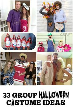 I love all of these group/ couple DIY Halloween Costume ideas!!!