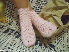 Diário de algodão : Meia de tricô Primavera - receita