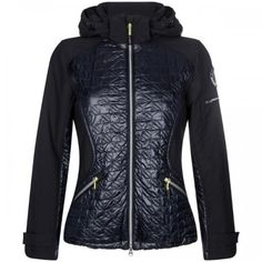 HV-Polo Jack Blue River Hv-polo jas met afneembare capuchon en contrast aan de voorzijde.